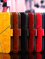 cheap -Case For OPPO OPPO A11x / oppo A9 2020 / OPPO A11 Card Holder / Flip / Magnetic Full Body Cases Solid Colored PU Leather / TPU