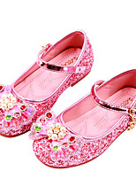 cheap -Girls' Flats Comfort / Flower Girl Shoes / Princess Shoes Patent Leather / PU Little Kids(4-7ys) Walking Shoes Bowknot / Pearl Pink / Silver Spring / Fall / Party & Evening