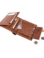 cheap -Travel Wallet Document Organizer Card Holder Anti-theft RFID Blocking Everyday Use Security Genuine Leather Classic Vintage Gift For Men's Women's 13*11*2 cm