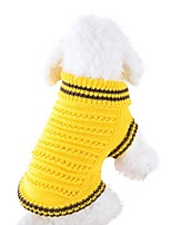 cheap -forestime pet dog openwork sweater dog clothes for small dogs winter sweaters (yellow, xs)