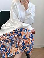 cheap -Women's Street Daily Active Streetwear Cotton Skirts Rainbow Rainbow
