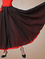 cheap -Ballroom Dance Skirts Bandage Women's Performance Daily Wear High Chiffon