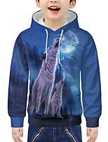 cheap -Kids Boys' Active 3D Animal Print Long Sleeve Hoodie & Sweatshirt Blue