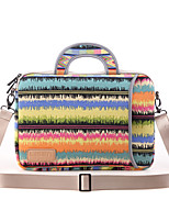 cheap -13.3 Inch Laptop / 14 Inch Laptop / 15.6 Inch Laptop Sleeve / Shoulder Messenger Bag / Briefcase Handbags Canvas Rainbow / Textured for Men for Women for Business Office Waterpoof Shock Proof