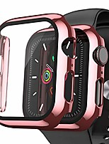 cheap -[2 pack] watch protector compatible for apple watch 42mm series 3/2/1,  watch cover with build-in tempered glass watch screen protector, thin plated bumper for iwatch accessories rose golden