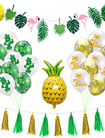 cheap -Party Balloons 24 pcs Hawaii Summer Party Supplies Latex Balloons Banner Boys and Girls Party Decoration 12 Inch for Party Favors Supplies or Home Decoration