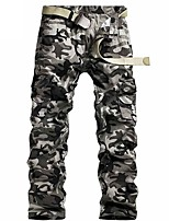 cheap -Men's Hiking Pants Trousers Hiking Cargo Pants Camo Summer Outdoor Breathable Ventilation Soft Comfortable Cotton Pants / Trousers White Grey Hunting Fishing Climbing 28 29 30 31 32 / Multi-Pocket