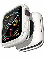cheap -compatible with apple watch series 6 se 5 4 bumper case 44mm iwatch quattro series cases fall protection durable military grade protective tpu flexible shock proof resist men 44 mm white