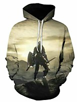 cheap -Inspired by Animal Deer Cosplay Costume Hoodie Plush Fabric 3D Printing Hoodie For Men's / Women's
