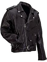 cheap -men's black buffalo leather motorcycle jacket (3xl)