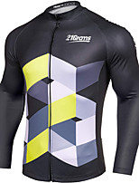 cheap -21Grams Men's Long Sleeve Cycling Jacket Winter Fleece Black Bike Jacket Mountain Bike MTB Road Bike Cycling Fleece Lining Breathable Warm Sports Clothing Apparel / Stretchy