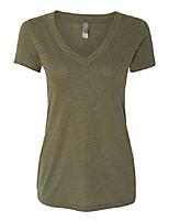 cheap -apparel 6740 lady tri-blend deep v neck t-shirt - military green44; 2xl
