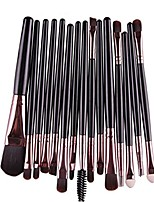 cheap -lavany eye shadow foundation eyebrow lip brush makeup brushes tool,15 pcs/sets (black)