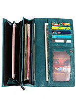 cheap -Travel Wallet Document Organizer Card Holder Anti-theft RFID Blocking Everyday Use Security Genuine Leather Classic Vintage Gift For Men's Women's 19.5*9.5*3 cm