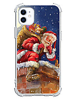 cheap -Christmas Santa Claus Unique Design Case For Apple iPhone 12 iPhone 12 Mini iPhone 12 Pro Max Custom Case Shockproof Back Cover