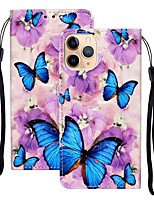 cheap -Case For Apple iPhone 12 Pro Max  Wallet Card Holder with Stand Full Body Cases Butterfly PU Leather iPhone 12 Mini SE 2020 11 Pro XR XS Max X 7 8 Plus