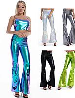 cheap -Hippie Disco Retro Vintage Hippie 1970s Disco 1980s Pants Masquerade Women's Costume Silver+Gray / Black / Yellow Vintage Cosplay Party Masquerade