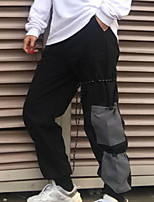 cheap -Women's Sporty Outdoor Loose Daily Pants Pants Multi Color Full Length High Waist Black Gray