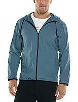 cheap -upf 50+ men's hullen hooded jacket - sun protective (small- placid blue)