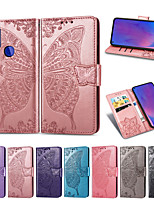 cheap -Case For OPPO OPPO A53 / oppo A9 2020 / Oppo A72 / A52 / A92 Card Holder / Shockproof / Flip Full Body Cases Butterfly PU Leather