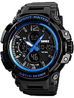cheap -men's analog digital led waterproof quartz watch for men 3 time zones countdown 12/24 hours