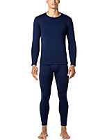 cheap -men's heavyweight thermal underwear long john set fleece lined base layer top and bottom m24 navy