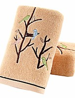 cheap -hand towels set of 2 100% cotton bird tree pattern highly absorbent soft luxury towel for bathroom 13.8 x 29.5 inch & #40;brown& #41;