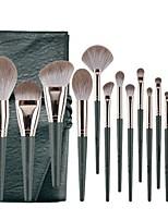 cheap -14 Pcs Green Cloud Makeup Brush Set Super Soft Beginner Full Set Of Beauty Tools Brush Foundation Blush Eye Shadow Nose Brush Contour Concealer
