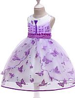 cheap -Princess Dress Party Costume Flower Girl Dress Girls' Movie Cosplay Princess Purple / Yellow / Blue Dress Children's Day Masquerade Polyester