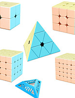 cheap -Speed Cube Set 5 pcs Magic Cube IQ Cube MoYu 2*2*2 3*3*3 4*4*4 Speedcubing Bundle 3D Puzzle Cube Stress Reliever Puzzle Cube Stickerless Smooth Office Desk Toys Pyramid Macaron Kid's Adults Toy Gift