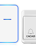 cheap -CACAZI Self Powered Home Wireless Doorbell No Battery Required Waterproof 120M Remote Smart House Ringbell Doorbell 220V Chime