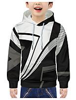 cheap -Kids Boys' Active 3D Graphic Print Long Sleeve Hoodie & Sweatshirt White