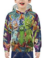 cheap -Kids Boys' Active 3D Print Long Sleeve Hoodie & Sweatshirt Rainbow