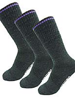 cheap -women's merino wool cushioned outdoor crew hiking socks 3pair khaki medium