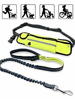 cheap -waist pet leash outdoor running free-hand adjustable waist belt waterproof and nylon retractable dog leash suitable for most of dogs (green)