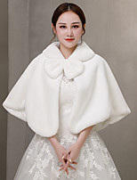 cheap -Sleeveless Coats / Jackets / Capes Fauxfur Wedding / Party / Evening Shawl & Wrap / Women's Wrap With Bowknot