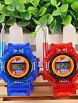 cheap -New 2pcs Walkie Talkies Watches Toys For Kids 7 In 1 Camouflage 2 Way Radios Mini Walky Talky Interphone Clock Children Toy