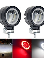 cheap -2pcs/lot 40W Motorcycles Headlight bike Headlight bulb Angel eyes LED bar work light Driving Spot Fog Lights External LED dual color