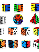 cheap -Speed Cube Set 14 pcs Magic Cube IQ Cube 3*3*3 Speedcubing Bundle 3D Puzzle Cube Stress Reliever Puzzle Cube Stickerless Smooth Office Desk Toys Pyramid Mirror Megaminx Kid's Adults Toy Gift