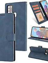 cheap -Case For Samsung Galaxy A21S Wallet Card Holder with Stand Full Body Cases Solid Colored PU Leather Galaxy A51 A71 5G A01 Core A11 A31 A41 A81 A91 A30S A50 A70 A20E A40 A70 M11