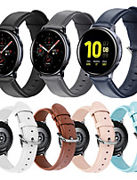 Недорогие -ремешок из натуральной кожи для samsung galaxy watch active 2 40 мм 44 мм смарт-часы спортивный браслет браслет ремешок для часов 20 мм аксессуары