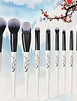 cheap -New 10PCS Makeup Brush Set Chinese Style Beauty Makeup Loose Powder Blush Eye Shadow Set Brush Wholesale Makeup Tools Full Set