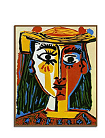 cheap -Oil Painting Hand Painted - Abstract Abstract Portrait Comtemporary Modern Rolled Canvas (No Frame)