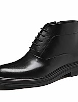 cheap -men's leather oxfords ankle lace-up fashion boots dress boot black size 13