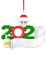 cheap -Santa Christmas Hooks Easy to Use Modern Contemporary Bathroom Decoration