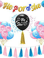 cheap -Party Balloons 41 pcs Boy or Girl Party Supplies Latex Balloons Banner Boys and Girls Baby Shower Decoration 36 Inch+12 Inch for Party Favors Supplies or Home Decoration