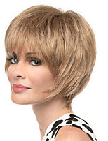 cheap -Synthetic Wig Straight Asymmetrical Wig Short Light Brown Synthetic Hair Women's Fashionable Design Classic Exquisite Light Brown