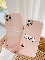 cheap -Case For Apple iPhone 11 / iPhone 11 Pro / iPhone 11 Pro Max Shockproof Back Cover Word / Phrase Silicone