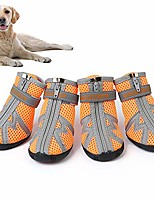 cheap -all weather dog hiking shoes, dog outdoor shoes with anti-slip sole, reflective pet running shoes,paw protectors with adjustable straps, zipper closure and easy to wear, bright colors