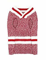 cheap -little-star dog sweaters small dogs v neck mixed color pet dog knitwear wool puppy winter coat cat clothes kitten sweaters,red,xs
